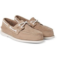 Sperry Authentic Original Leather Boat Shoes Stone