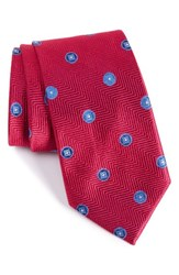 Nordstrom Men's Men's Shop Honeymoon Medallion Silk Tie Hot Pink