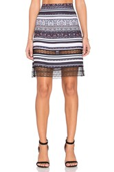 Clover Canyon Striped Tapestry Skirt Purple
