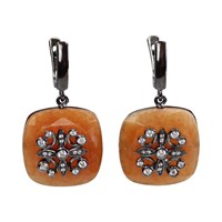 Bellus Domina Festino Aventurine Earrings Yellow Orange