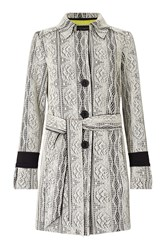 James Lakeland Lace Trench Black