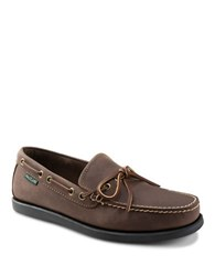 Eastland Yarmouth Leather Boat Shoes Bomber Brown