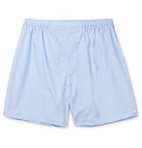 Sleepy Jones Victor Cotton Boxer Shorts Blue