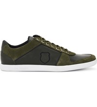 The Kooples Leather And Suede Lace Up Trainers Kak01
