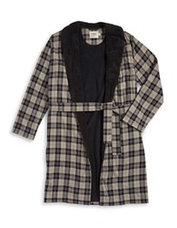 Ugg Fleece Lined Plaid Robe Black