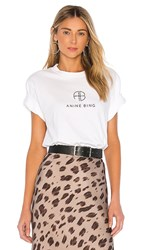 Anine Bing Hudson Monogram Tee In White.