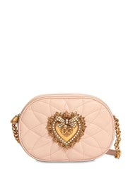 Dolce And Gabbana Devotion Quilted Leather Camera Bag Cipria