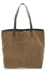 Kelsi Dagger Brooklyn 'Commuter' Leather Tote Brown Olive Multi