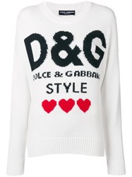 Dolce And Gabbana D G Style Jumper White