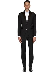 Z Zegna Wool And Mohair Tuxedo Suit Black