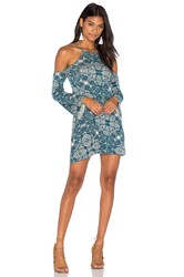Clayton Everly Dress Teal