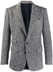 Dolce And Gabbana Single Breasted Blazer Black