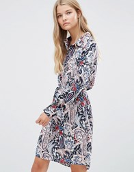 Vila Paisley Shirt Dress Blue