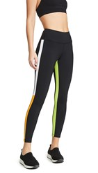 Splits59 Inline 7 8 Leggings Black Orange Limeade