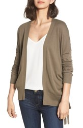 Chelsea 28 Chelsea28 Ruched Side Cardigan Olive Brown
