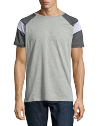 Sovereign Code Zayden Colorblock Mesh Stripe Tee Gray