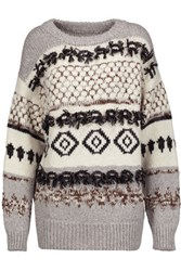 Current Elliott The Boyfriend Intarsia Knit Sweater Multi