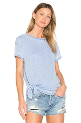 Bobi Burnout Tie Side Tee Blue