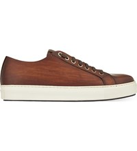 Magnanni Tennis Leather Trainers Tan