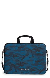 Marc Jacobs 15 Inch Computer Commuter Bag Blue Navy Multi