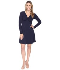 Mod O Doc Cotton Modal Spandex Jersey Twist Front Empire Seamed Dress True Navy Women's Dress