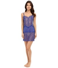 B.Tempt'd B.Sultry Chemise Deep Sea Blue Women's Pajama