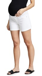 Ingrid And Isabel Maternity Mia Boyfriend Shorts White