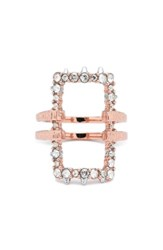 Alexis Bittar Women's Elements Rectangle Ring Rose Gold