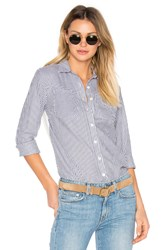 Derek Lam Long Sleeve Button Down Shirt Blue