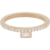 Monique Pean Diamond And Gold Stacking Band