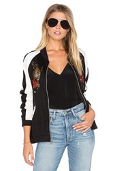 Lauren Moshi Haven Bomber Jacket Black And White