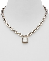 Michael Kors Chain Link Padlock Toggle Necklace 16