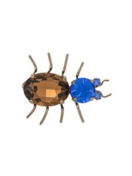 Etro Beetle Brooch Gold
