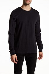 Threads For Thought Long Sleeve Crew Neck Slub Black