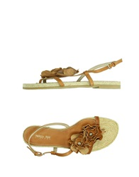 Patrizia Pepe Thong Sandals Brown