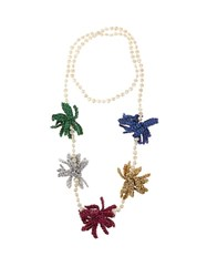 Lucy Folk Spritz Crochet Flower And Pearl Necklace Multi