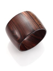 Nest Ebony Wood Wide Bangle Bracelet