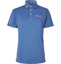 Rlx Ralph Lauren Airflow Stretch Jersey Polo Shirt Blue