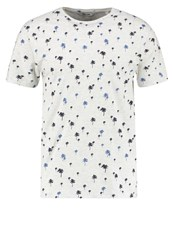 Only And Sons Onstamir Print Tshirt White Melange