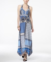 Inc International Concepts Printed Handkerchief Hem Maxi Dress Only At Macy's Patchwork