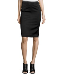 Atm Tuxedo Fabric Pencil Skirt
