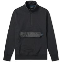 Paul Smith 1 4 Zip Popover Funnel Neck Sweat Black