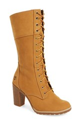 Timberland Women's 'Glancy 10 Inch' Lace Up Boot Wheat Nubuck Leather