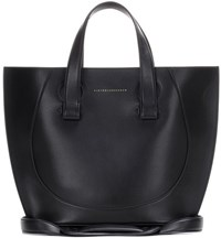 Victoria Beckham Small Tulip Leather Tote Black