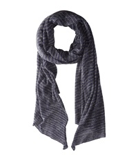 John Varvatos Jersey Knit Stripe Navy Scarves