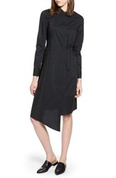 Halogen Poplin Shirtdress Black