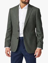 Chester Barrie By Birdseye Suit Jacket Green