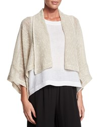Eskandar Open Front Shawl Collar Jacket Undyed