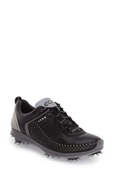 Ecco Women's 'Biom G2' Water Resistant Golf Shoe Black Steel Leather