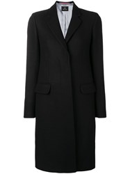Paul Smith Ps By Concealed Front Coat Black
